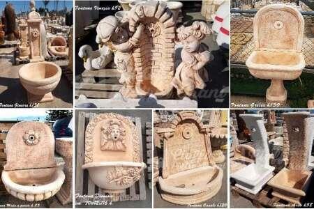 Fontana in polvere di marmo e cemento michele cioffi - Fontane in marmo da giardino ...