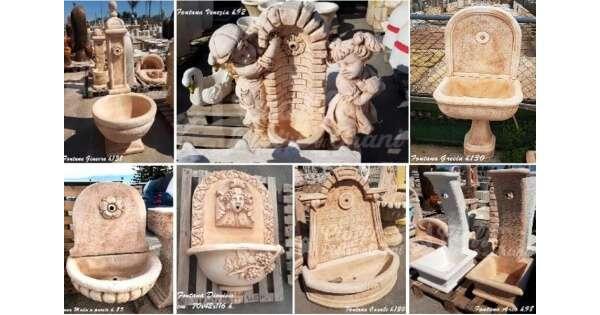 Fontane da giardino in polvere di marmo for Fontane da arredo