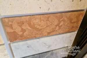 Battiscopa Zoccolino in Rosso Verona sez. cm. 8x1