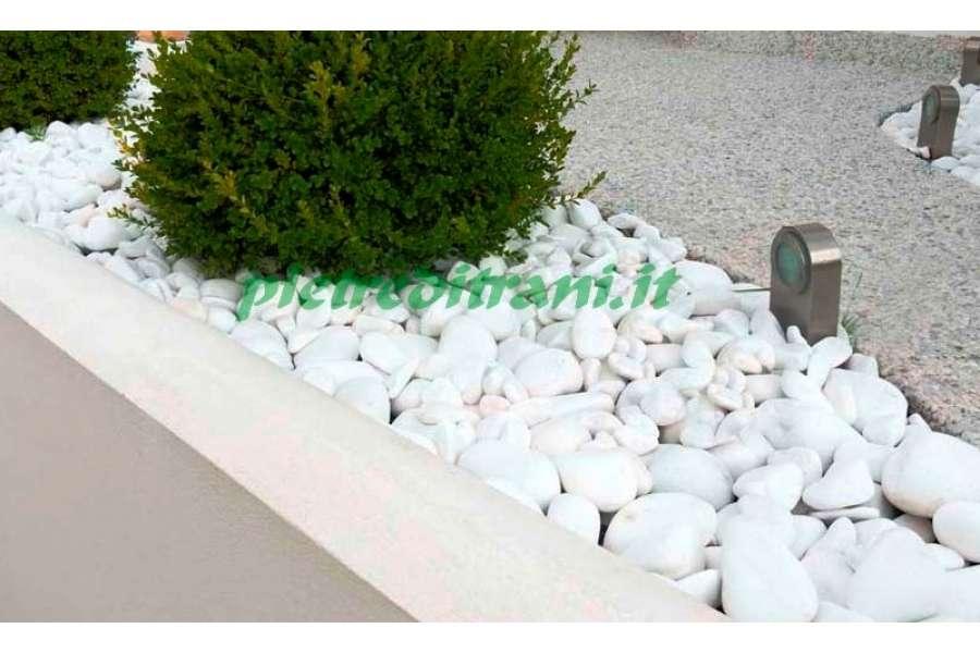 Ciottoli da giardino bianco assoluto in buste michele - Ciottoli bianchi da giardino ...