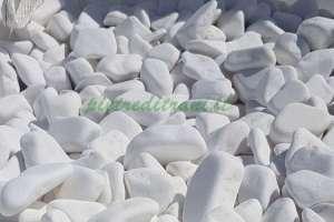 Ciottoli da Giardino Bianco Assoluto