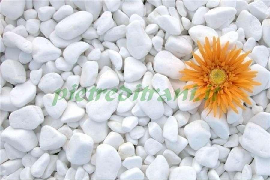 Ciottoli bianco assoluto buste 25 kg michele cioffi for Bricoman arredo giardino