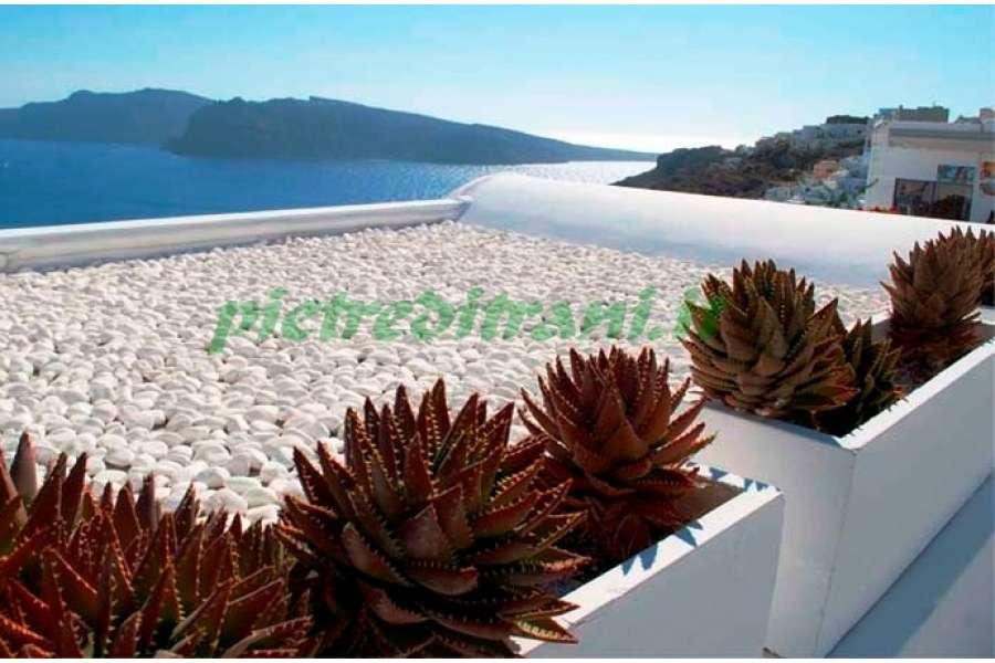 Ciottoli bianco assoluto buste 25 kg michele cioffi for Ciottoli di pietra bianca per giardino prezzo
