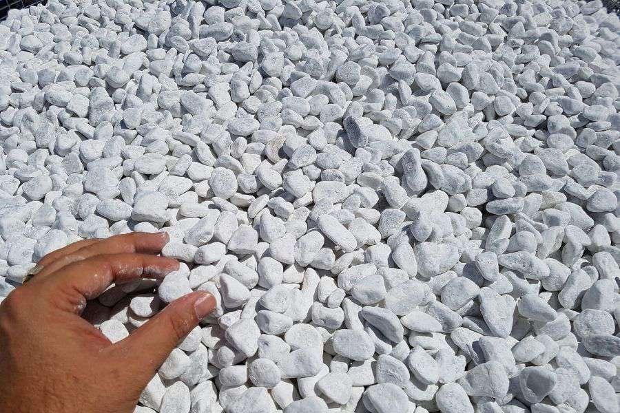 Ciottoli bianco carrara buste da kg 25 michele cioffi for Ciottoli bianchi da giardino prezzi