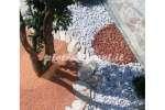 Ciottoli da giardino Bianco Carrara - 4 buste da Kg. 25 cad.