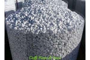 Ciottoli da Giardino Bianco Carrara