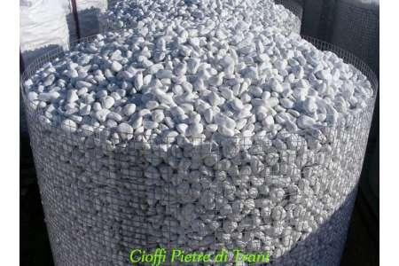 Ciottoli da giardino Bianco Carrara - Ceste