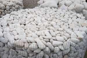 Ciottoli da giardino Bianco Trani in BUSTE
