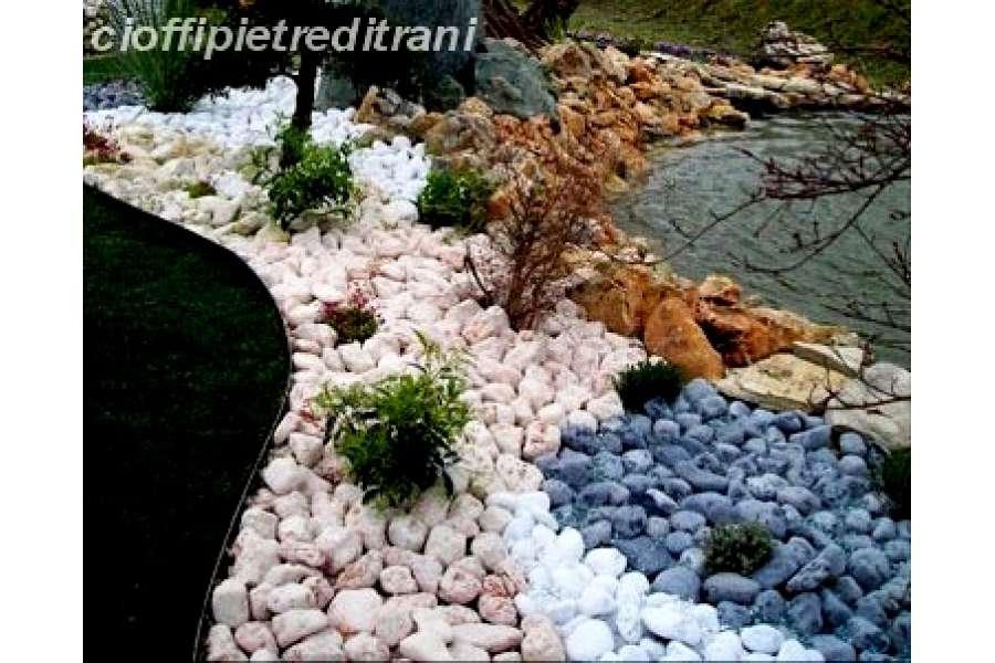 Ciottoli da giardino rosso verona in buste michele for Sassi bianchi da giardino prezzo