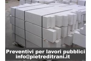 Cordoli Cigli in Pietra Marmo di Trani sez. cm. 20x8