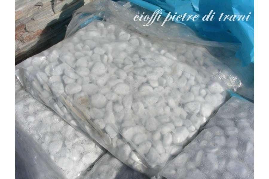Granulati bianchi in marmo carrara buste kg 25 for Ciottoli bianchi giardino prezzo