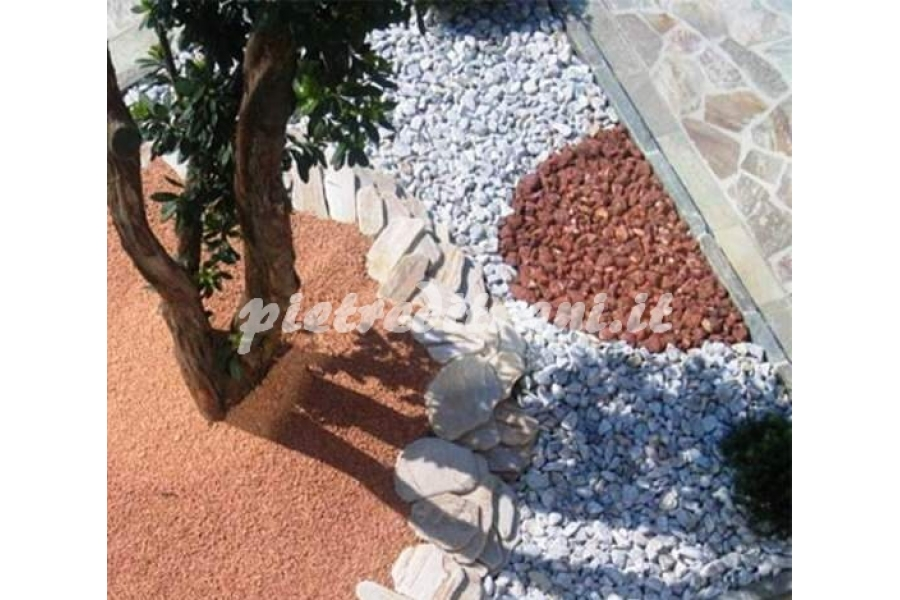 Granulati rosso verona buste kg 25 michele cioffi for Ciottoli per giardino on line