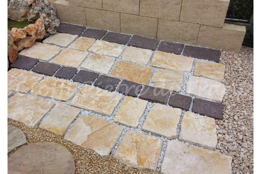 Piastrelle in pietra di trani tranciata michele cioffi piastrelle