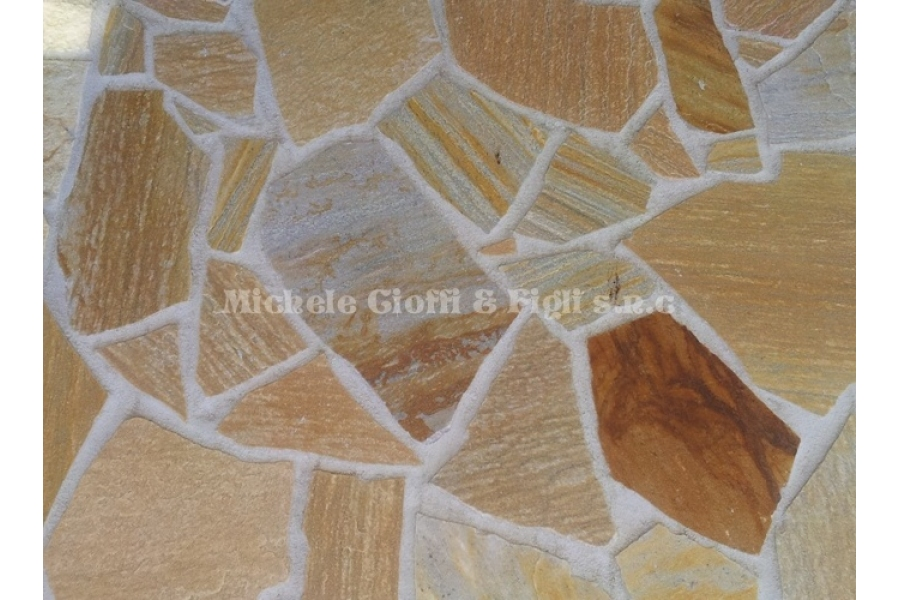 Quarzite gialla imperiale mosaico brasiliano michele cioffi