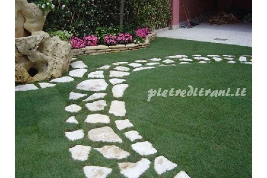 Scorza in pietra di trani anticata retrosegata michele - Camminamento pietra giardino ...