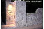 Scorza in Pietra di Trani Anticata Retrosegata sp. cm. 1-3