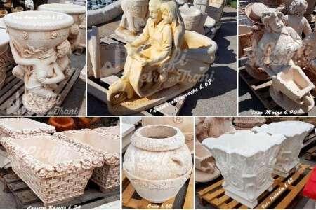 Vasi in polvere di marmo e cemento michele cioffi for Vasi marmo