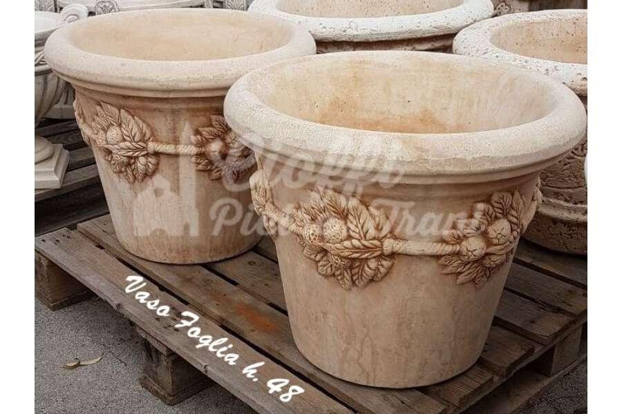 Vasi Da Giardino Grandi.Vasi Da Giardino In Polvere Di Marmo